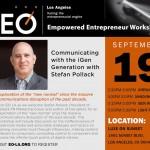 Stefan Pollack Speaking for the EO LA Empowered Entrepreneur Workshop 9/19/13